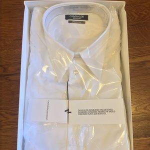 NWT CALVIN KLEIN 205W39NYC SOLID WHITE DRESS SHIRT